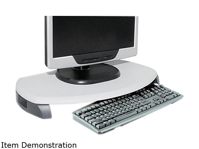 Kantek MS280 CRT/LCD Stand with Keyboard Storage, 23 x 13 1/4 x 3, Gray