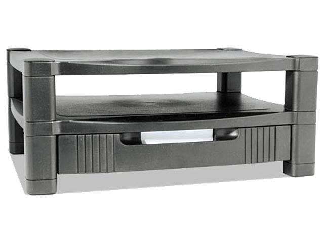 Two Level Stand, Removable Drawer, 17 X 13 1/4 X 3-1/2 To 7, Black