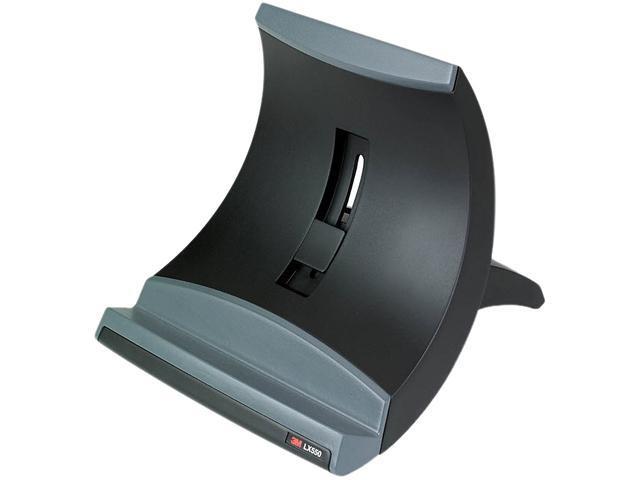 3M LX550 Vertical Notebook Computer Riser, Cable Management, 9 x 3-3/4 x 9-1/2, Black