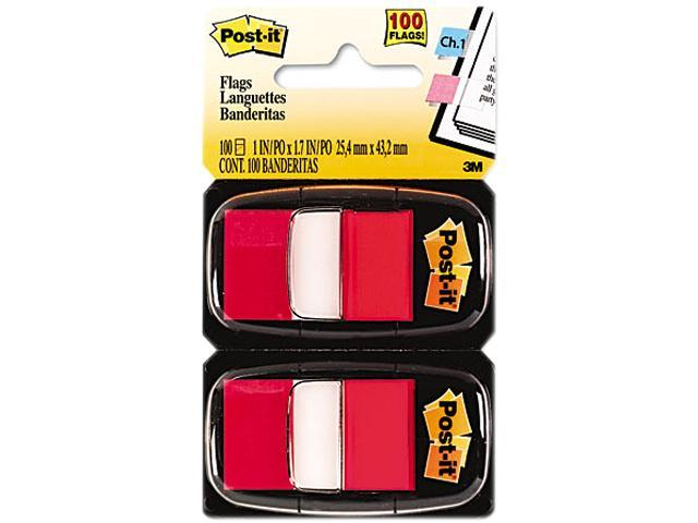 Post-it Flags 680-RD12 Marking Flags in Dispensers, Red, 50 Flags/Dispenser, 12 Dispensers/Pack