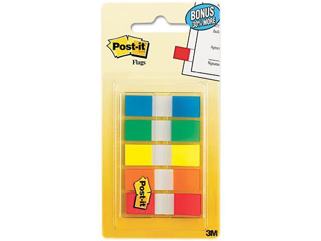 Post-it 683-5CF Flags in Portable Dispensers, Standard Colors, 5 Dispensers of 20 Flags/Color