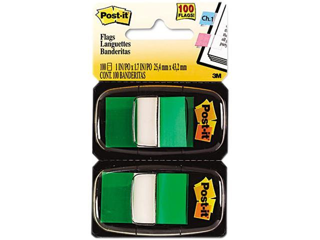 Post-it Flags 680-GN12 Marking Flags in Dispensers, Green, 50 Flags/Dispenser, 12 Dispensers/Pack