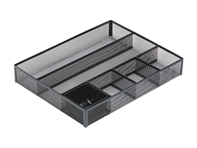 Rolodex 22131 Deep Desk Drawer Organizer, Metal Mesh, Black