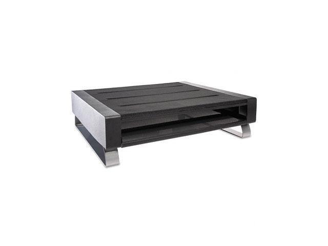 Rolodex 82413 Low-Profile Mesh Printer Stand, 21w x 18d x 5 3/4h, Black/Silver