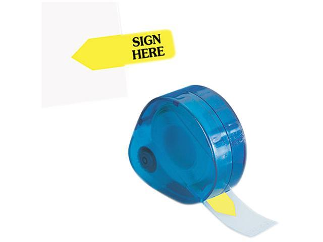 "Redi-Tag 81014 Arrow Message Page Flags in Dispenser, ""Sign Here"", Yellow, 120 Flags/Dispenser"
