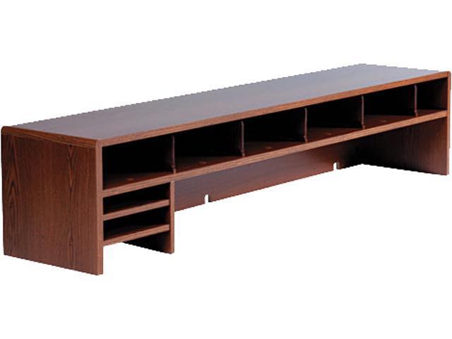 Safco 3671MO Low-Profile Desktop Organizer, 10 Sections, 57 1/2 x 12 x 12, Medium Oak