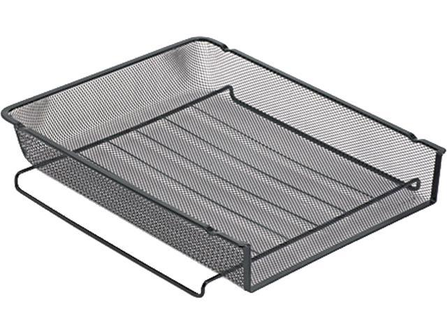 Rolodex 22211ELD Mesh Stackable Front Load Letter Tray, Wire, Black
