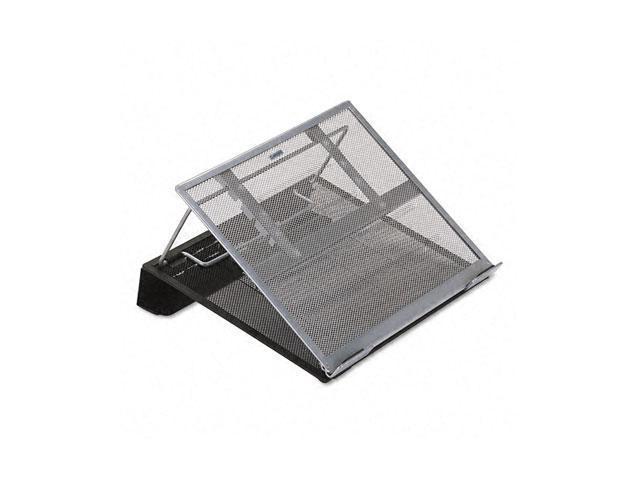 Rolodex 82410 Laptop Stand/Holder, 13w x 11 3/4d x 6 3/4h, Black/Silver