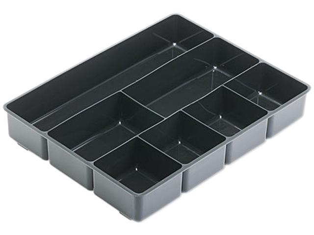 Rubbermaid 11906ROS Extra Deep Desk Drawer Director Tray, Plastic, Black