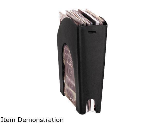 Rubbermaid 86026 Regeneration Recycled Plastic Magazine File, 4 5/8 x 11 x 11 3/8, Black