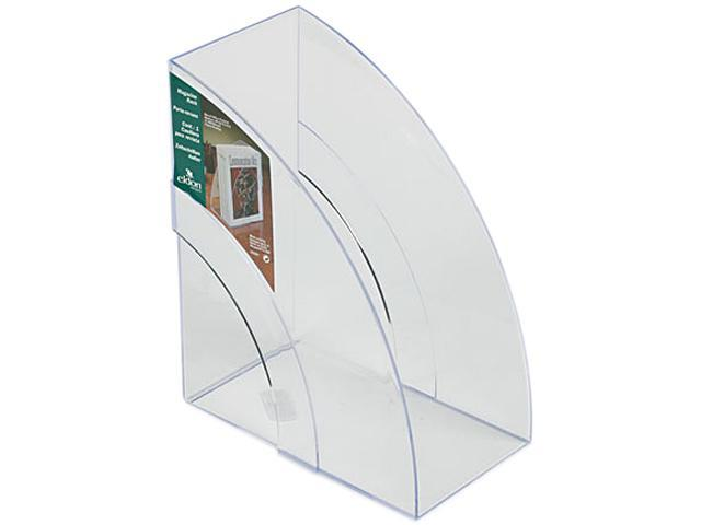 Rubbermaid 96502ROS Optimizers Deluxe Plastic Magazine Rack, 5 1/4 x 9 x 11 1/8, Clear