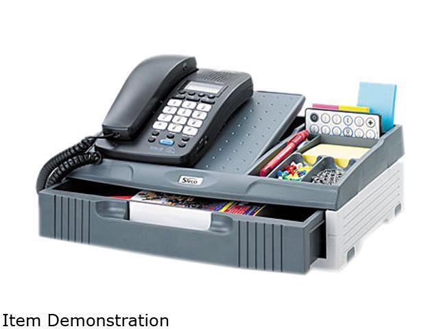Safco 2204CH Telephone Organizer Stand, 1 Drawer, 14 3/4 x 10 1/2 x 4 1/4, Gray