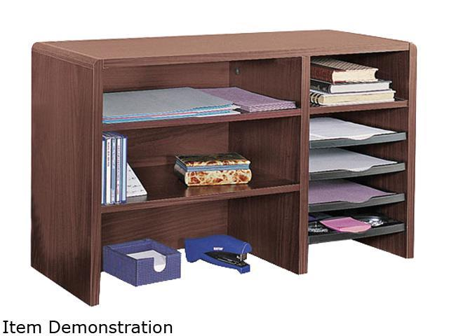 Safco 3692MH Desktop Organizer, Nine Sections, 29 x 12 x 18, Mahogany