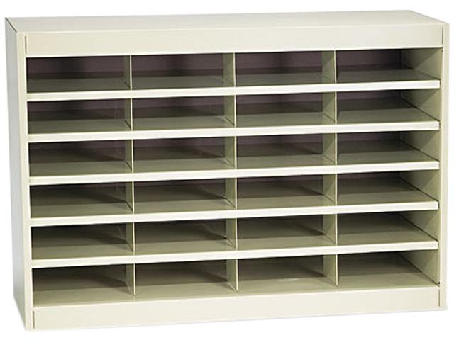 Safco 9211TSR Steel/Fiberboard E-Z Stor Sorter, 24 Sections, 37 1/2 x 12 3/4 x 25 3/4, Sand