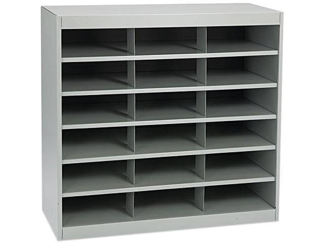 Safco 9264GR Steel Project Center Organizer, 18 Pockets, 37 1/2 x 15 3/4 x 36 1/2