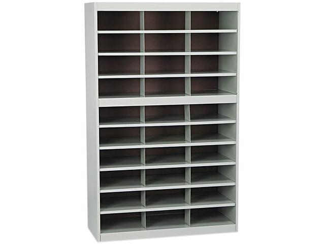 Safco 9274GR Steel Project Center Floor Organizer, 30 Pockets, 37 1/2 x 15 3/4 x 60