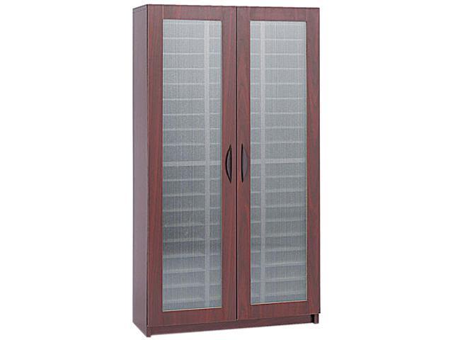 Safco 9355MH Literature Organizer, Particleboard/Polycarbonite, 60 Compartments, Mahogany