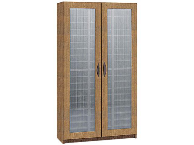 Safco 9355MO Literature Organizer, Particleboard/Polycarbonite, 60 Compartments, Medium Oak