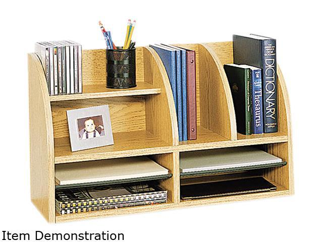 Safco 9417MO Radius Front Organizer, Eight Sections, 25 7/8 x 9 5/8 x 15 1/4, Medium Oak