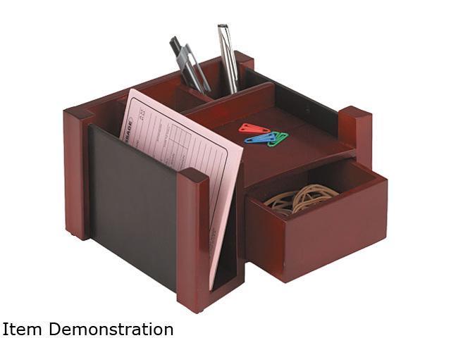Rolodex 81767 Desk Director, Wood, 7 1/8 x 6 3/4 x 4 1/8, Black/Mahogany