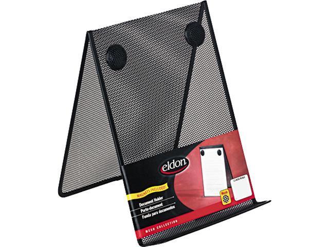 Rolodex FG9C9500BLA Nestable Wire Mesh Freestanding Desktop Copyholder, Stainless Steel, Black