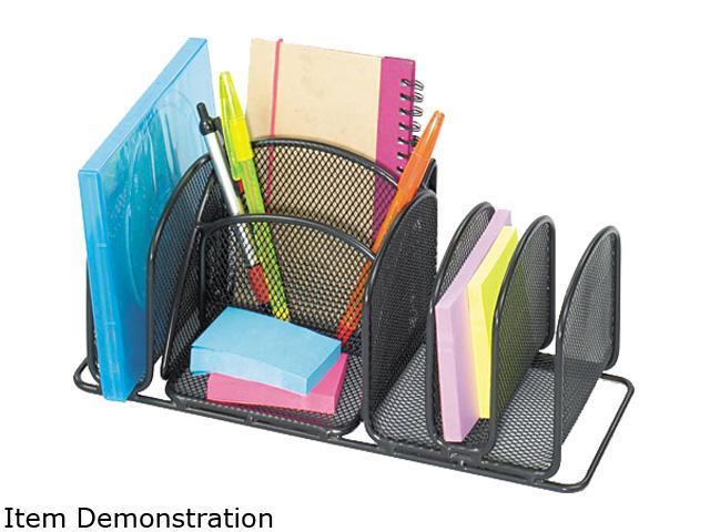 Safco 3251BL Deluxe Organizer, Six Compartments, Steel, 12 5/8 x 4 1/8 x 15 5/8