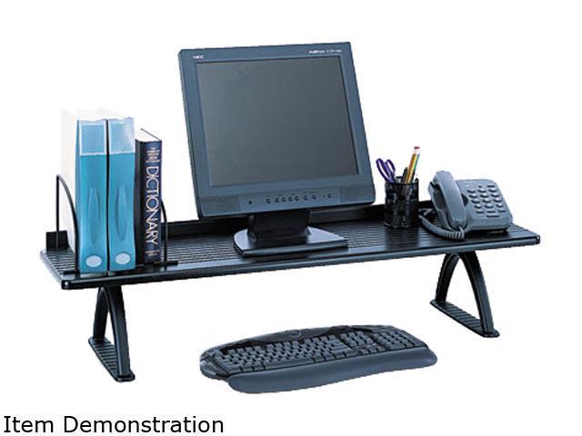 Safco 3603BL Value Mate Desk Riser, 100-Pound Capacity, 42 x 12 x 8, Black