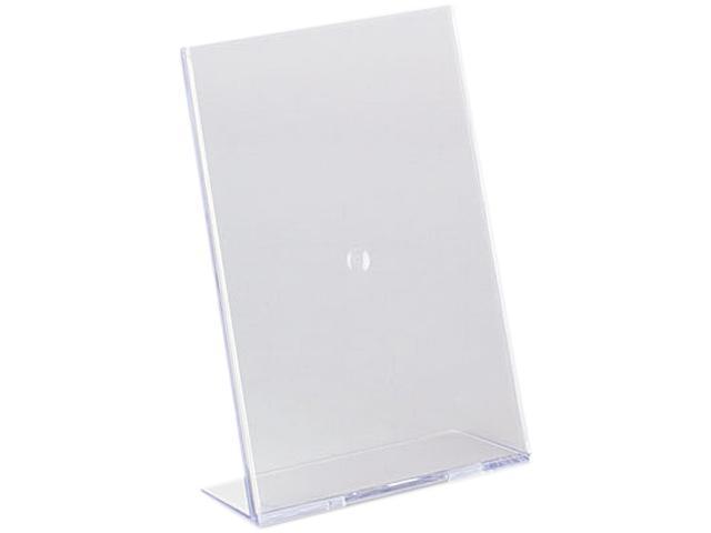 deflect-o 590301 Slanted Desk Sign Holder, Plastic, 5 x 7, Clear