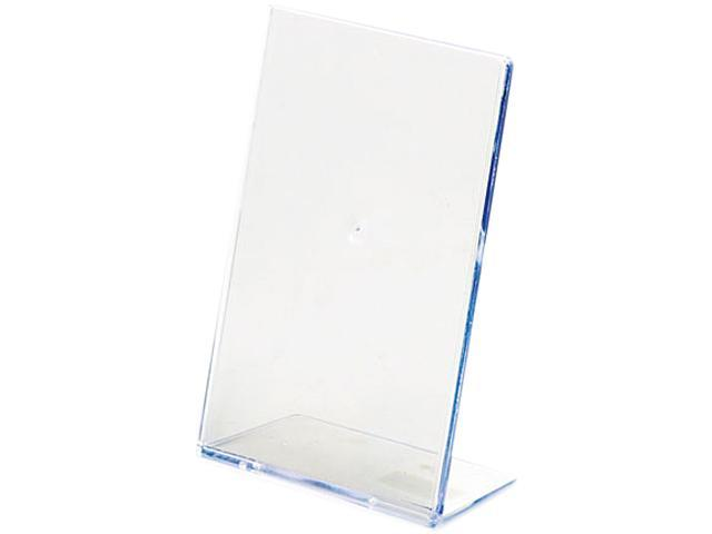 deflect-o 590401 Slanted Desk Sign Holder, Plastic, 4 x 6, Clear