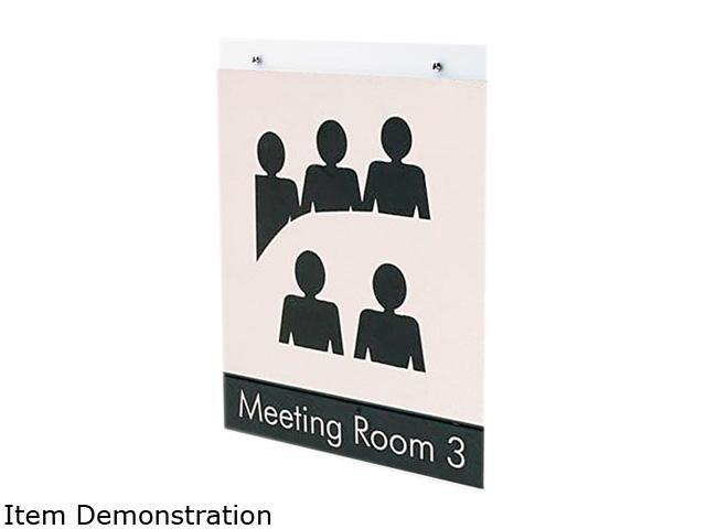 deflect-o 68201 Classic Image Single-Sided Wall Sign Holder, Plastic, 8-1/2 x 11, Clear
