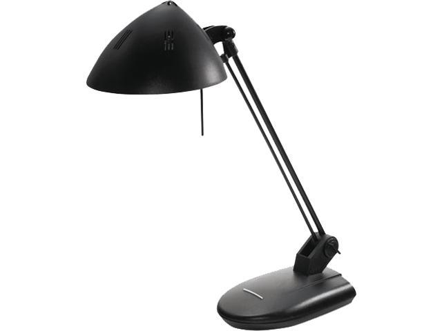 Ledu L281MB High-Output Three-Level Halogen Desk Lamp, 17 Inch Reach, Matte Black