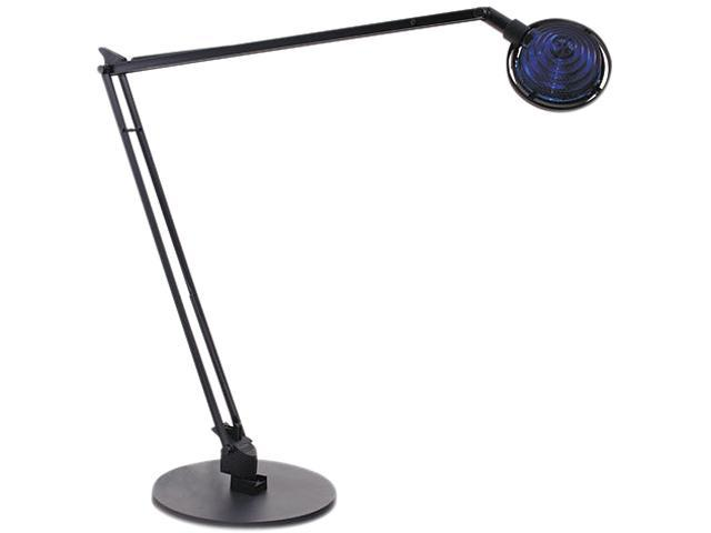 Ledu L460BK Concentrolite Halogen Desk Lamp, Tiered Shade, Weighted Base, 34 Inch Reach