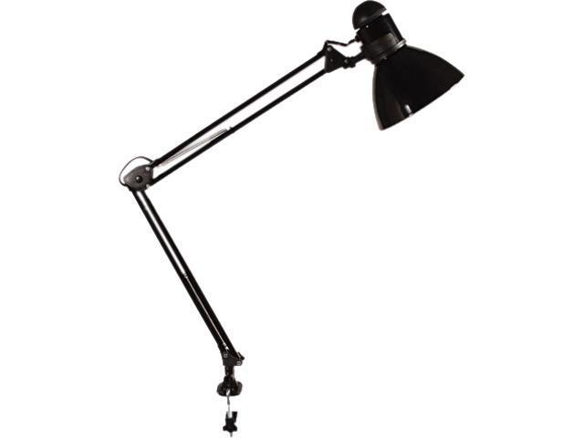 Ledu L502BK Opti Series Swing Arm Incandescent Lamp, 30 Inches Reach, Black