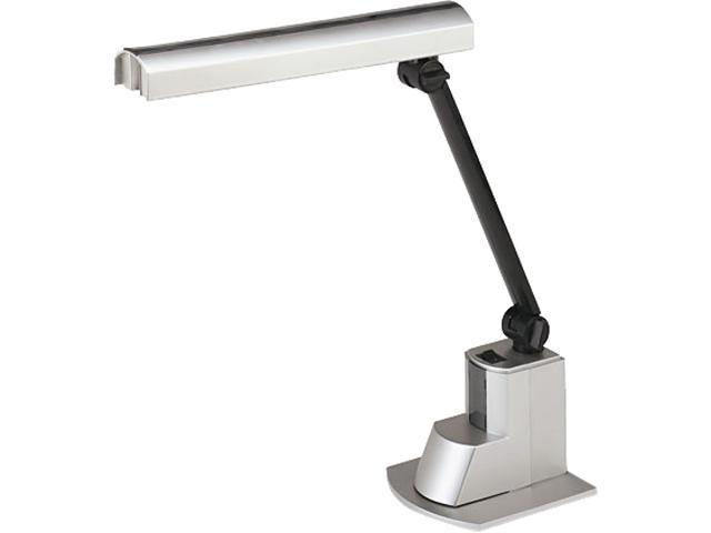 Ledu L9008 Fluorescent Desk Lamp, Electronic Ballast, Folding Shade, 15-1/2 Inch, Silver