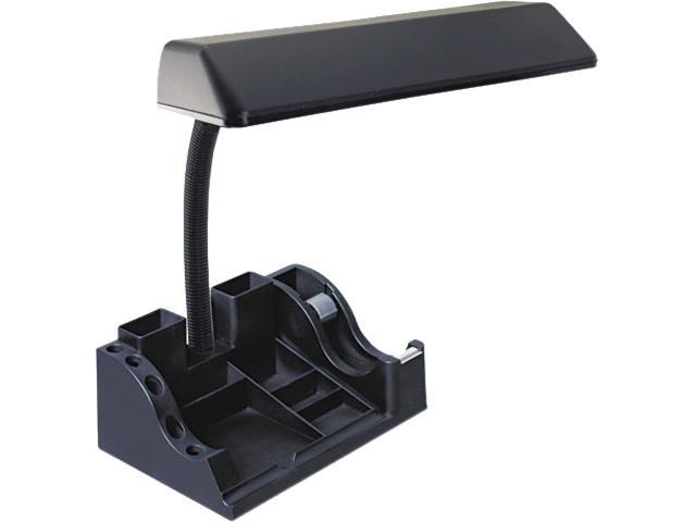 Ledu L9083 Deluxe Organizer Fluorescent Desk Lamp, 15-1/2 Inches High, Black