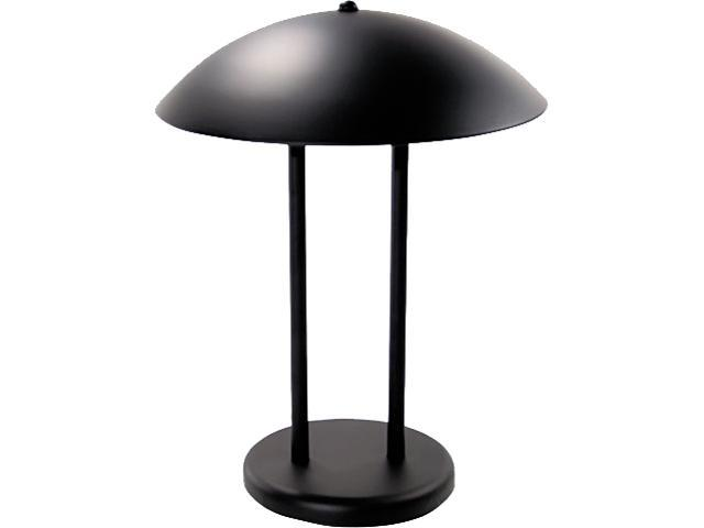 Ledu L9110 Two-Pole Dome Incandescent Desk/Table Lamp, Matte Black, 16-1/4 Inches High