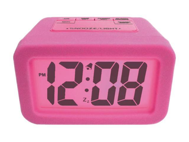 "Geneva Clock Company 6151AT Pink 1.25"" LCD Alarm Clock"