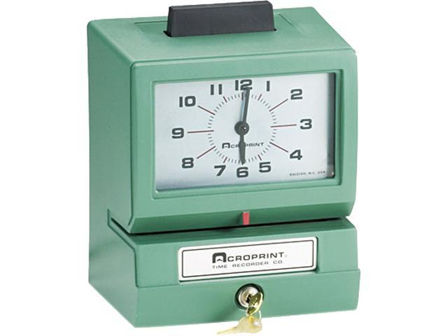 Acroprint 01-1070-400 Model 125 Analog Manual Print Time Clock with Date/0-12 Hours/Minutes