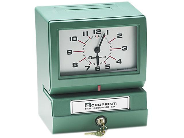 Acroprint 01-2070-411 Model 150 Analog Automatic Print Time Clock with Month/Date/1-12 Hours/Minutes