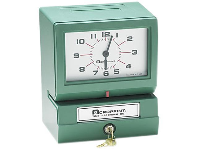 Acroprint 01-2070-413 Model 150 Analog Automatic Print Time Clock with Month/Date/0-23 Hours/Minutes
