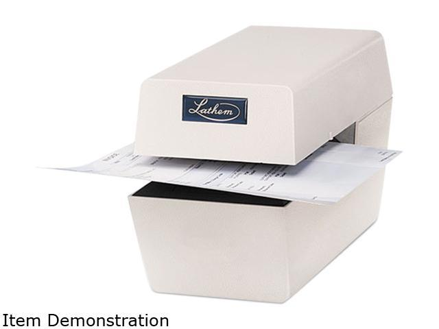 Lathem Time LTT Heavy-Duty Time/Date Document Stamp, 5-1/2 x 11 x 7, Cool Gray