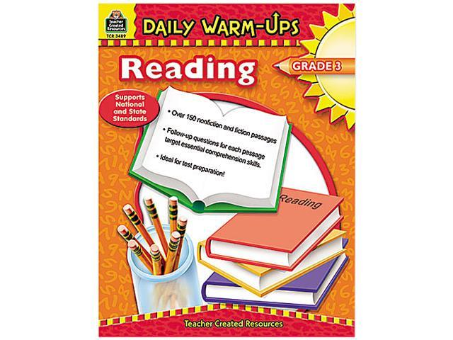 Teacher Created Resources 3489 Daily Warm-Ups: Reading, Grade 3, Paperback, 176 Pages