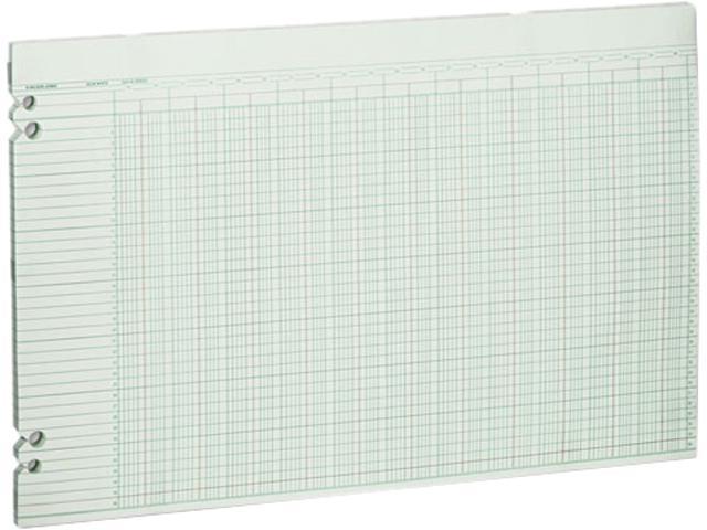 Wilson Jones G50-36 Accounting Sheets, 36 Columns, 11 x 17, 100 Loose Sheets/Pack, Green