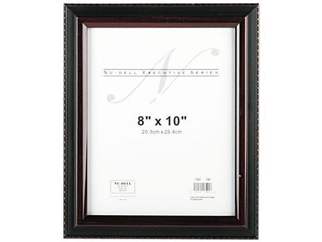 """Nu-Dell 17401 Executive Frame - 8"""" x 10"""" - Plastic - Black, Mahogany"""