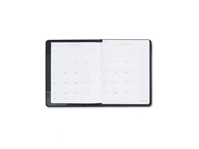 "AT-A-GLANCE Executive 70-290-05 Recycled Executive Monthly Padfolio, Black, 9"" x 11"""