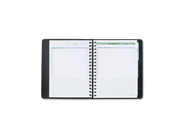 AT-A-GLANCE 70-EP03-05 The Action Planner  Recycled Daily Appointment Book, Black, 6 7/8