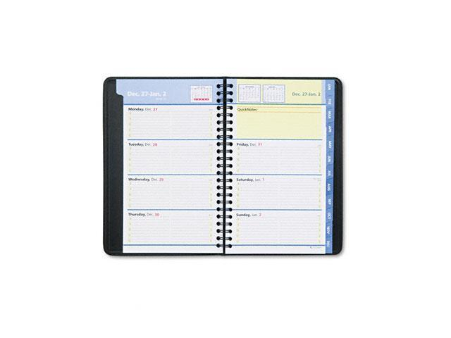 AT-A-GLANCE 76-02-05 QuickNotes Recycled Weekly/Monthly Appointment Book, Black, 4 7/8