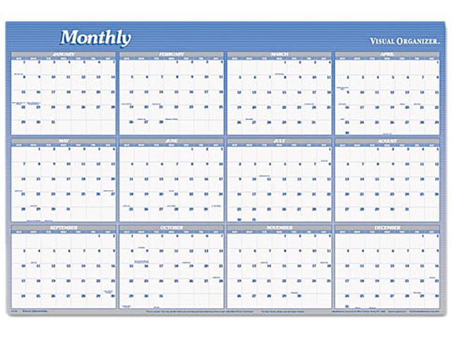 Visual Organizer A1102 Visual Organizer Vertical/Horizontal Erasable Wall Planner, 24