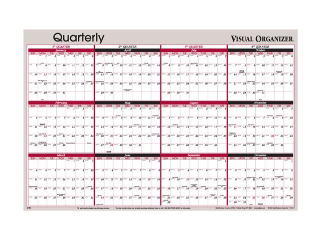 Visual Organizer A123 Visual Organizer Vertical/Horizontal Erasable Wall Planner, 24