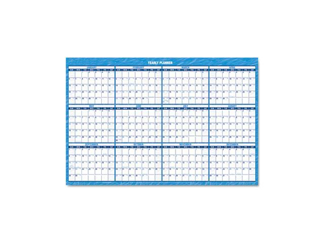 AT-A-GLANCE PM200-28 Recycled Horizontal Erasable Wall Planner, 36